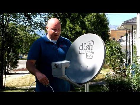aligning  dish part  locating  satellite signal