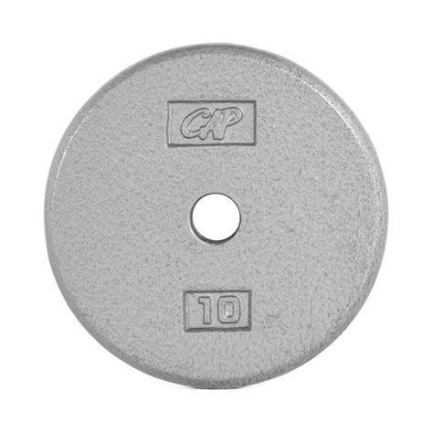 cap barbell standard  weight plate    pound gray   solid cast iron baked