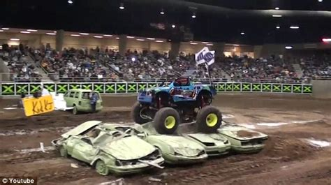 how long does monster truck jam last i like doing donuts driving over cars and wheelies meet