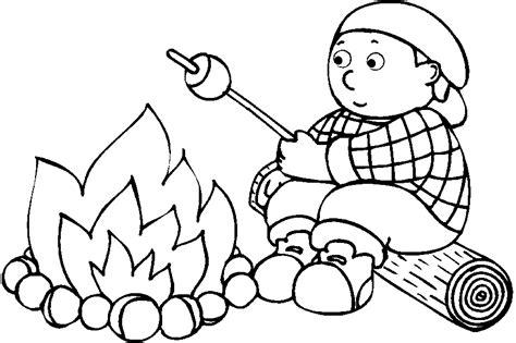camping coloring page coloring home