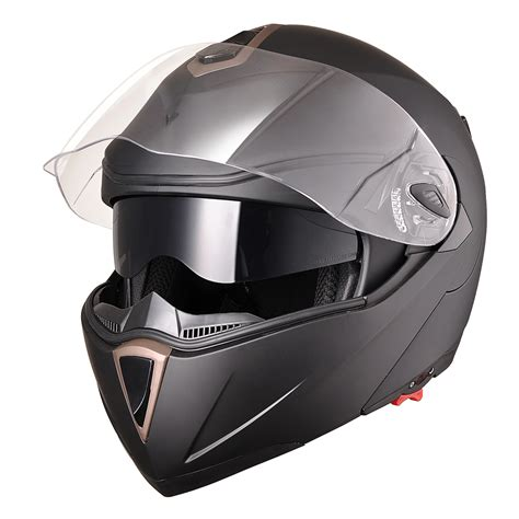 motocross helmets dot full face flip up motorcycle helmet dual visor bike