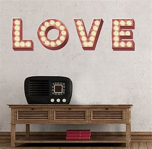 retro cinema marquee letters wall sticker by oakdene With vintage wall letters