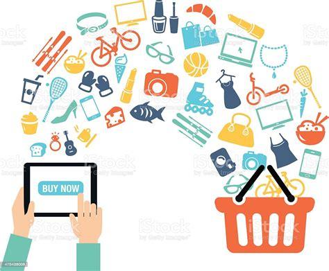 shopping  background stock illustration