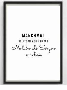 Poster Für Küche : poster a4 nudeln f r k che oder als geschenk spr che ~ Watch28wear.com Haus und Dekorationen