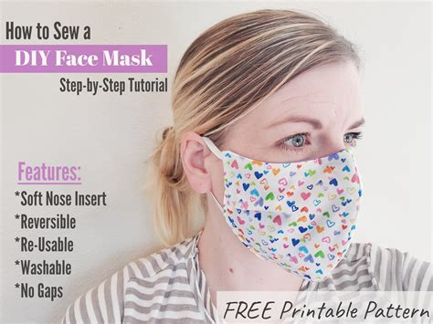 diy face mask tutorial  pattern eat pray create