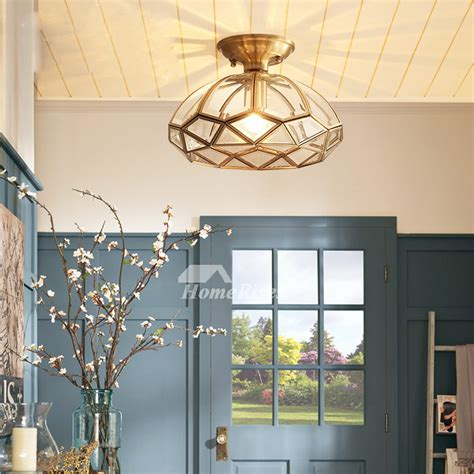 bathroom ceilingpendant lights semi flush glass shade