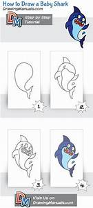 step by step for how to draw a shark | Kid Crafts ...