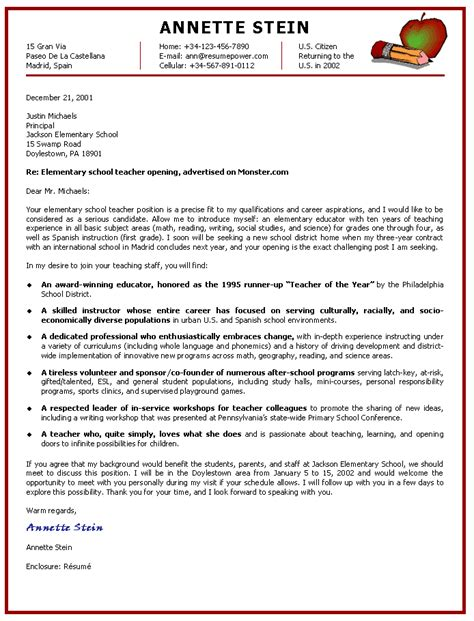 cover letter esl teaching position exles of cover
