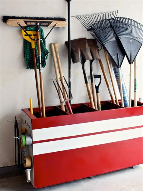 yard tool storage cabinets clever uses for everyday items in the garage interior