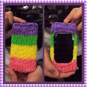 Rainbow loom iphone case   Loom band   Pinterest   I want ...