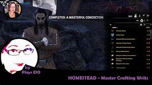 ESO DLC | Homestead - How to get tradable Master Writs ...