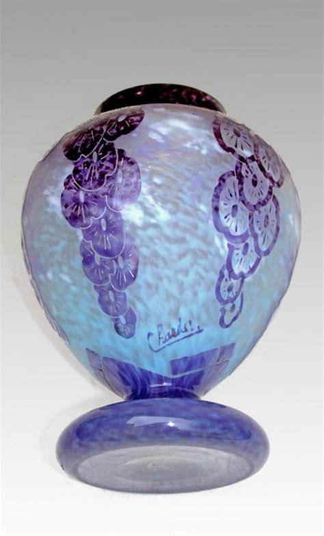schneider le verre francais vase art deco  lavandes