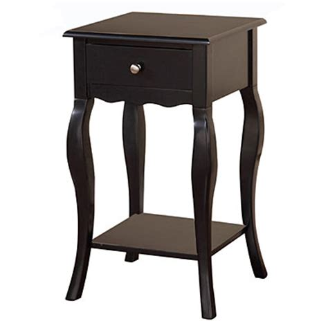 Black One-Drawer Accent Table