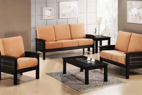 wooden settee designs black wooden sofa set with fabric of seats pretty