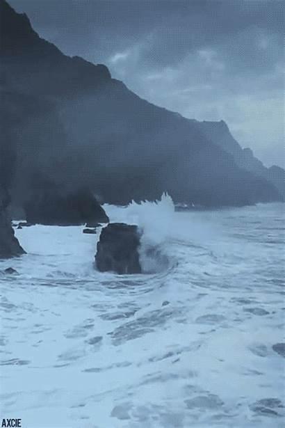 Waves Ocean Animated Sea Crashing Crash Gifs