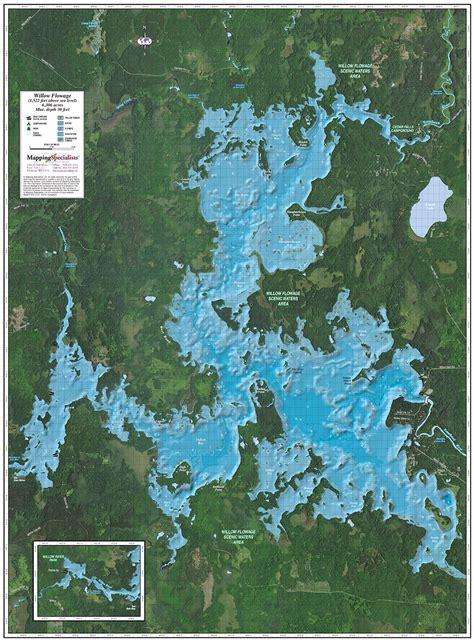 willow reservoir enhanced wall map