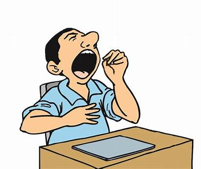 Clipart Boring Yawning Clip Yawn Tired Cartoon