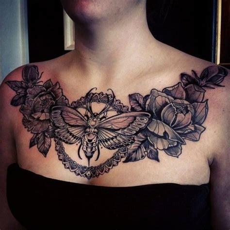 female chest tattoo ideas  pinterest