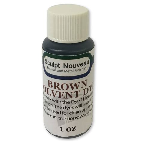 Solvent Dye Brown 1oz - The Compleat Sculptor - The ...