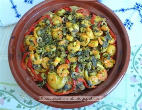 cuisine arabe 4 tajine pimenté au poisson et crevettes cuisine arabe