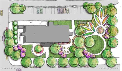site design landscape castleman senior apartments