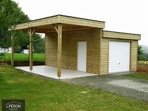 Faire Un Carport : carport toit plat sur mesure en bretagne ~ Premium-room.com Idées de Décoration