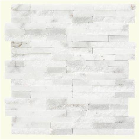 home depot marble tile backsplash jeffrey court churchill white split 11 75 in x 12 5