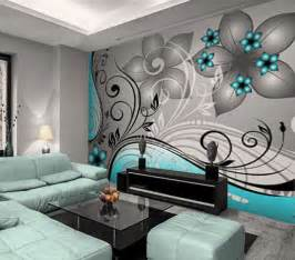 Teal Bedroom Wallpaper by Wallpaper Wall Mural 350cm W X 250cm H Abstract Teal