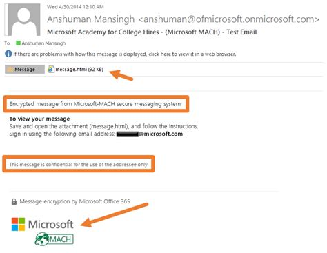 Office 365 Mail Only by Office 365 Message Encryption Decryption Steps For