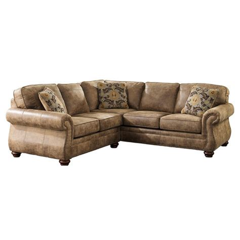small scale sectional sofa recliner signature design by ashley larkinhurst small scale