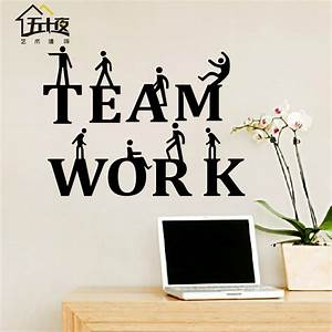 Office wall sticker team work quote motivation inspired