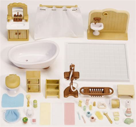 calico critters bathroom set calico critters deluxe bathroom set at growing tree toys