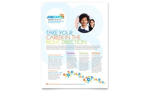 job expo career fair flyer template design