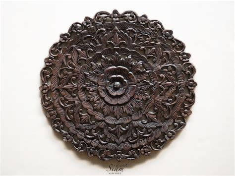 buy traditional lotus carved wood wall panel