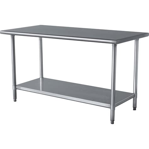 small stainless steel kitchen table furniture chic stainless steel prep table for kitchen