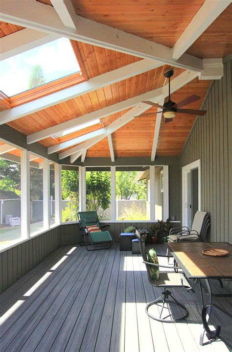 christianson construction screened porch  trex decking