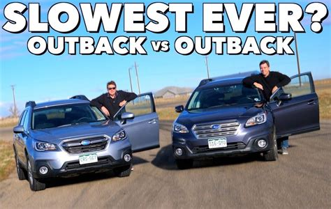 Subaru Outback Old Vs. New Drag Race
