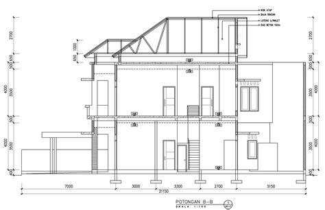 rumah  lantai atap limas desain rumah minimalis