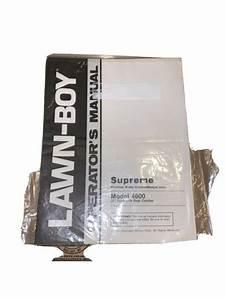 Lawn Boy 4600 20 Inch Lawn Mower Owners Manual