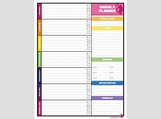 Week At A Glance Calendar Template – 2018 Calendar Template