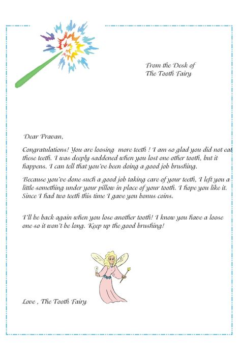 Free Printable Tooth Letter Template by Two Worlds Meet Glitter And Gold Fairies And Dust