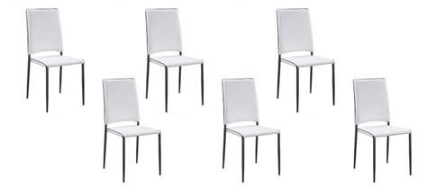lot 6 chaises blanches vente de chaises capitonn 233 e par lot de 6 garantie 2 ans