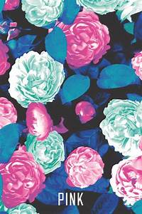 Pink wallpaper flower print | Backgrounds | Pinterest ...