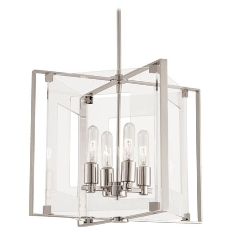 Kovacs Lighting by George Kovacs Clear Polished Nickel Pendant Light