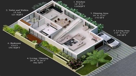 Home Design 15×30 : House Plans India East Facing