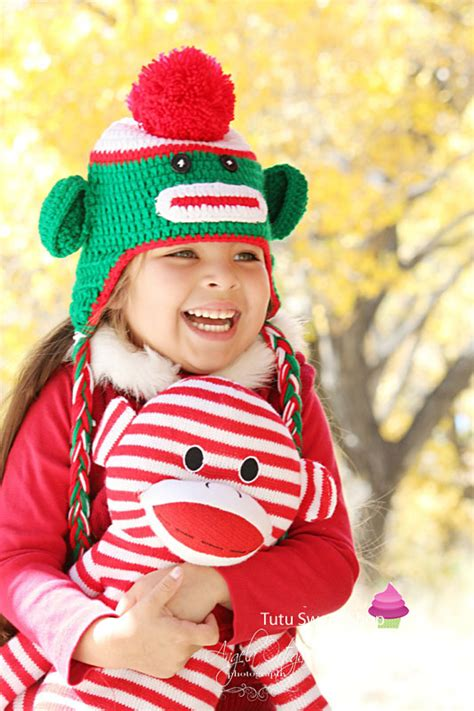 christmas hats for toddlers and green sock monkey crochet hats for