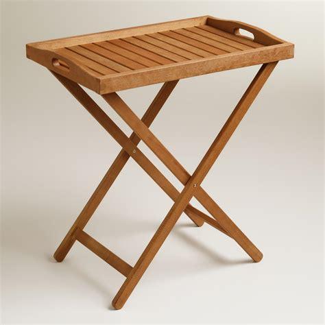 Outdoor Wood Tray Table  World Market. Padded Desk Chair. Office Desks For Cheap. Raising Coffee Table. Children Desk Chair. Parsons White Desk. Pool Tables Houston. Glass Desk Blotter. Round Dinner Table For 6