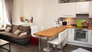 les erreurs a eviter dans l39amenagement d39une cuisine ouverte With amenagement cuisine salon salle a manger pour petite cuisine Équipée
