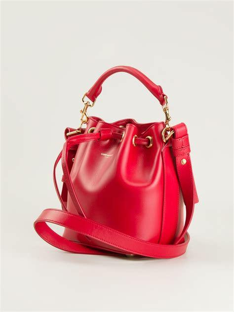 red bucket bag  fashion bags