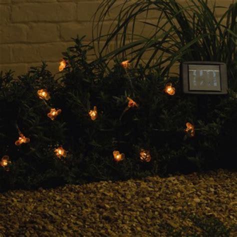 solar powered bumble bee garden lights